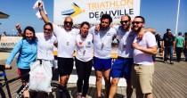 l'équipe Bo Travail au triathlon international de Deauville